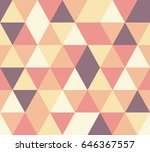 vector triangle seamless pattern | Shutterstock .eps vector #646367557