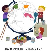 illustration of stickman kids... | Shutterstock .eps vector #646378507