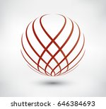 abstract logo design.vector... | Shutterstock .eps vector #646384693