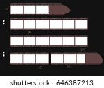 contact sheet with film stripes ... | Shutterstock .eps vector #646387213