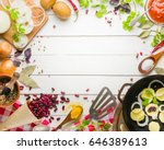 preparation of soup at home....   Shutterstock . vector #646389613
