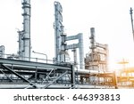 close up industrial view at oil ... | Shutterstock . vector #646393813