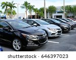 new chevrolet cruze lined up on ... | Shutterstock . vector #646397023