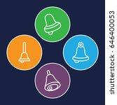 jingle icons set. set of 4... | Shutterstock .eps vector #646400053