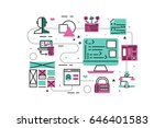 web programming line icons... | Shutterstock .eps vector #646401583