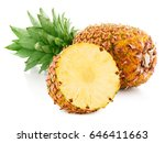pineapple fruit with slices... | Shutterstock . vector #646411663