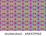 seamless floral pattern can be... | Shutterstock . vector #646419463