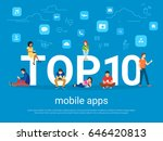 top 10 mobile apps flat concept ... | Shutterstock .eps vector #646420813
