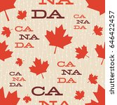 mid century canada pattern.... | Shutterstock .eps vector #646422457