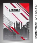 abstract cover page with city... | Shutterstock .eps vector #646428547