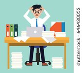 busy businessman stressed due... | Shutterstock .eps vector #646430053