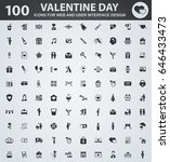 valentine day icons for web and ... | Shutterstock .eps vector #646433473