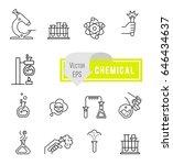vector set   chemical designer. ... | Shutterstock .eps vector #646434637