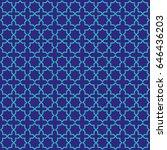 islamic oriental vector pattern. | Shutterstock .eps vector #646436203