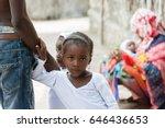 portrait of african black... | Shutterstock . vector #646436653