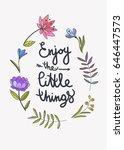 enjoy the little things... | Shutterstock .eps vector #646447573