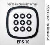 web menu icon. flat style for...