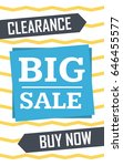 social media clearance sale... | Shutterstock .eps vector #646455577