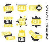 season sale badges and tags... | Shutterstock .eps vector #646455697