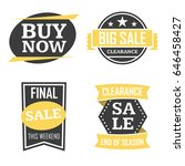season sale badges and tags... | Shutterstock .eps vector #646458427