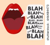banner with the mouth and...   Shutterstock .eps vector #646484473