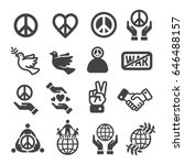 peace icon set | Shutterstock .eps vector #646488157