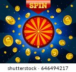 vector spinning fortune wheel... | Shutterstock .eps vector #646494217