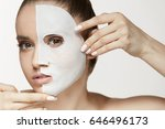 female beauty face skin... | Shutterstock . vector #646496173