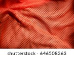 close up of red polyester nylon ... | Shutterstock . vector #646508263