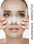 skin care. closeup of beautiful ... | Shutterstock . vector #646511713