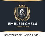 chess competition emblem  ... | Shutterstock .eps vector #646517353