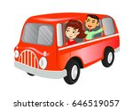 vector image of happy young... | Shutterstock .eps vector #646519057
