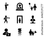 adult icons set. set of 9 adult ... | Shutterstock .eps vector #646519177