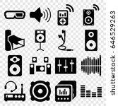 stereo icons set. set of 16... | Shutterstock .eps vector #646529263