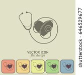 stethoscope vector icon | Shutterstock .eps vector #646529677