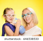mother and her little daughter... | Shutterstock . vector #646538533