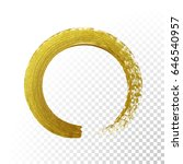 vector gold paint brush circle... | Shutterstock .eps vector #646540957