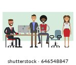scenes of people working in the ... | Shutterstock .eps vector #646548847
