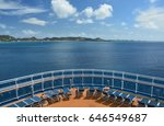 view from cruise ship on... | Shutterstock . vector #646549687