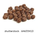 Chocolate Cereals Isolated On ...