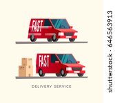 fast delivery service. shipping ... | Shutterstock .eps vector #646563913