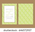wedding invitation card or... | Shutterstock .eps vector #646572937