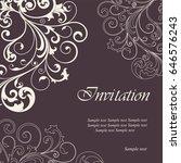 beautiful wedding invitation... | Shutterstock .eps vector #646576243