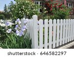 modern white board fence...