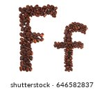 Letter F Made Of Coffee Beans ...
