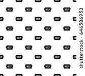 help pattern seamless in simple ... | Shutterstock . vector #646586953