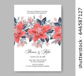 wedding invitation floral... | Shutterstock .eps vector #646587127
