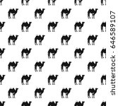 camel pattern seamless in... | Shutterstock . vector #646589107