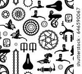 bicycles. seamless vector... | Shutterstock .eps vector #646590067