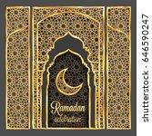 ramadan kareem greeting card... | Shutterstock .eps vector #646590247